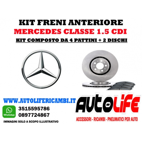Kit Freni Mercedes classe A 1.5 CDi