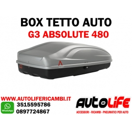 Box tetto auto portatutto G3 Absolute 480