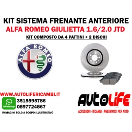 Kit Freni Alfa Giulietta 1.6 -2.0