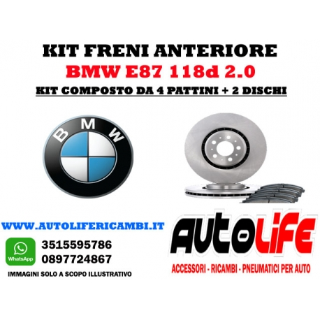 Kit Freni Bmw Serie1 E87 1118d 2.0