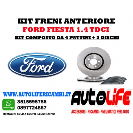 Kit Freni Ford Fiesta 1.4 tdci